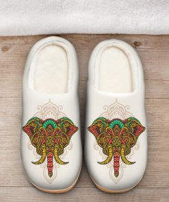 the elephant with mandala version all over printed slippers 2