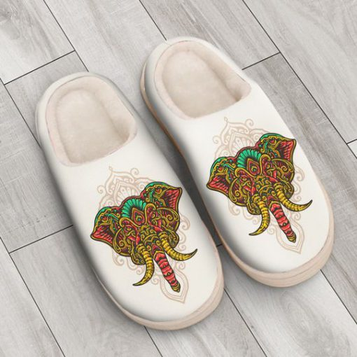 the elephant with mandala version all over printed slippers 4