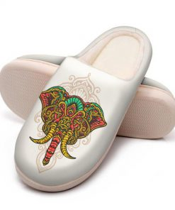 the elephant with mandala version all over printed slippers 5