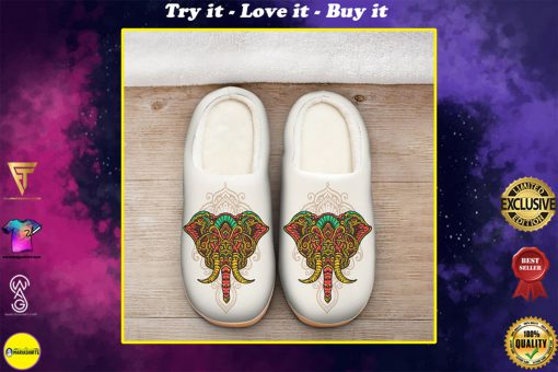 the elephant with mandala version all over printed slippers
