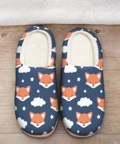 the fox face all over printed slippers 2