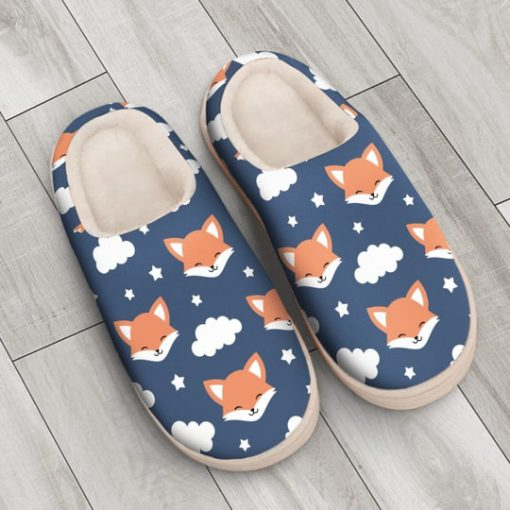 the fox face all over printed slippers 3