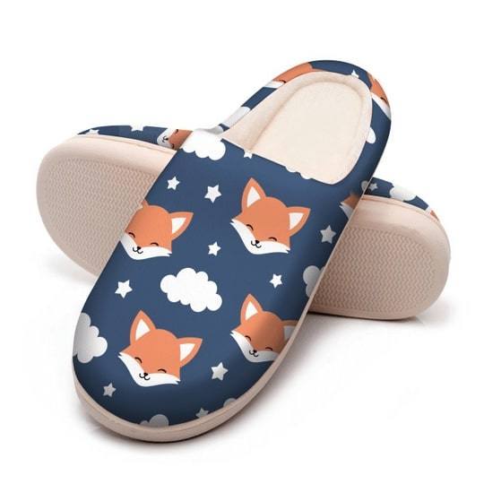 the fox face all over printed slippers 5