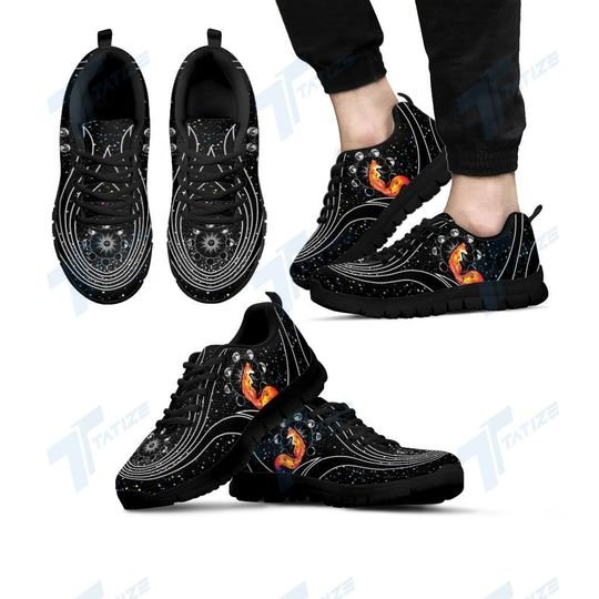 the galaxy fox all over printed sneakers 4