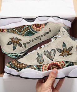 the mandala peace love weed all over printed air jordan 13 sneakers 5