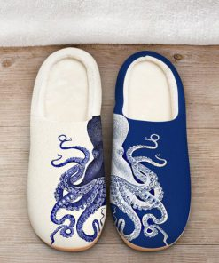 the octopus blue all over printed slippers 2