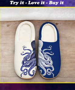 the octopus blue all over printed slippers