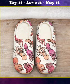 the octopus pink all over printed slippers