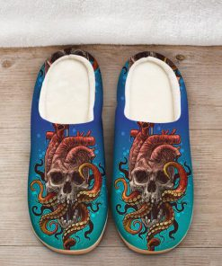 the octopus with death skull all over printed slippers 2