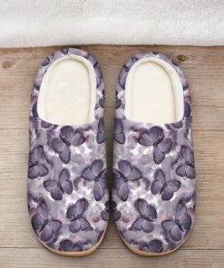 the purple butterfly all over printed slippers 2