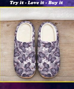 the purple butterfly all over printed slippers