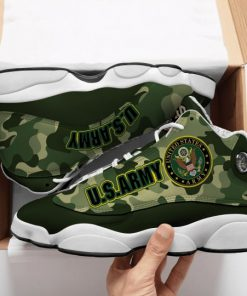the united states army camo all over printed air jordan 13 sneakers 1