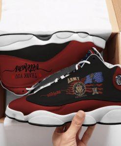 veteran boots and american flag all over printed air jordan 13 sneakers 1