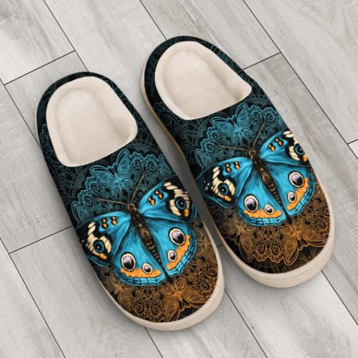 vintage butterfly mandala all over printed slippers 3