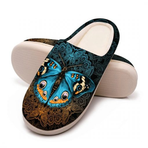 vintage butterfly mandala all over printed slippers 5