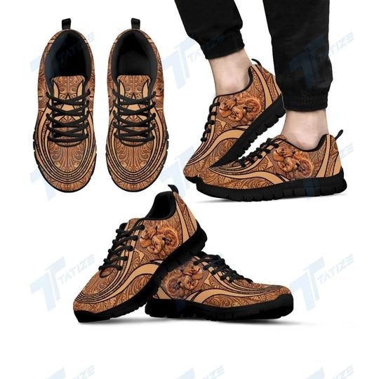 vintage dachshund dog lover all over printed sneakers 4