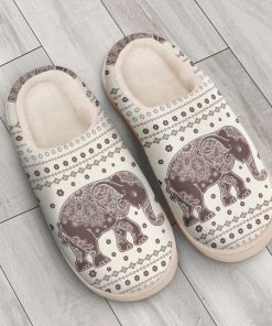 vintage elephant mandala all over printed slippers 4