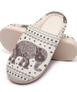 vintage elephant mandala all over printed slippers 5