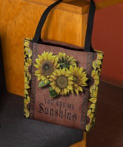 vintage sunflower you are my sunshine tote bag 2