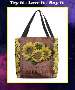 vintage sunflower you are my sunshine tote bag