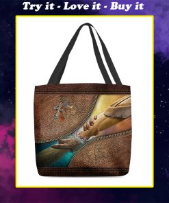 way maker miracle worker leather pattern all over print tote bag