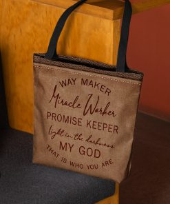 way maker miracle worker promise keeper light in the darkness my God tote bag 3
