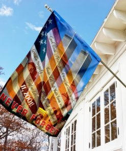 God bless america and may we never forget all over print flag 3