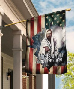 God focus on me not the storm american flag all over print flag 2