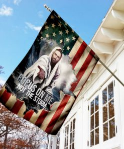 God focus on me not the storm american flag all over print flag 3