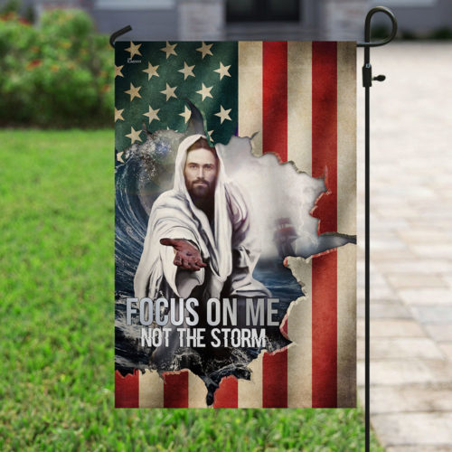 God focus on me not the storm american flag all over print flag 4
