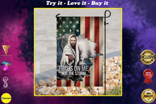 God focus on me not the storm american flag all over print flag