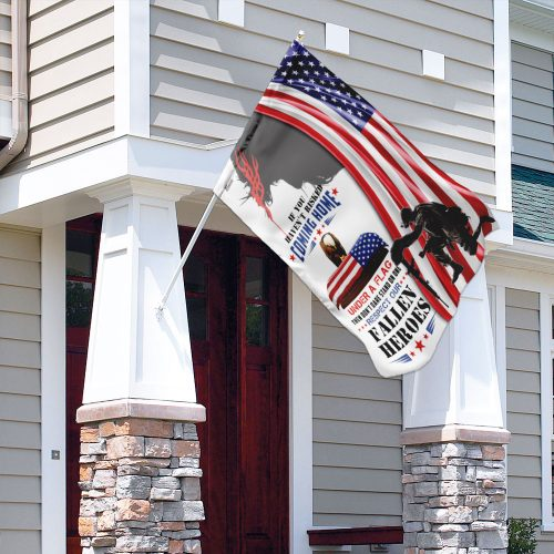 God if you havent risked coming home all over print flag 4