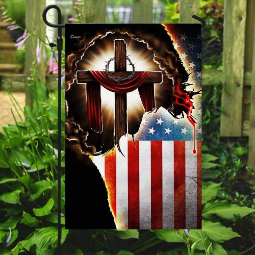 Jesus Christian american flag all over print flag 5