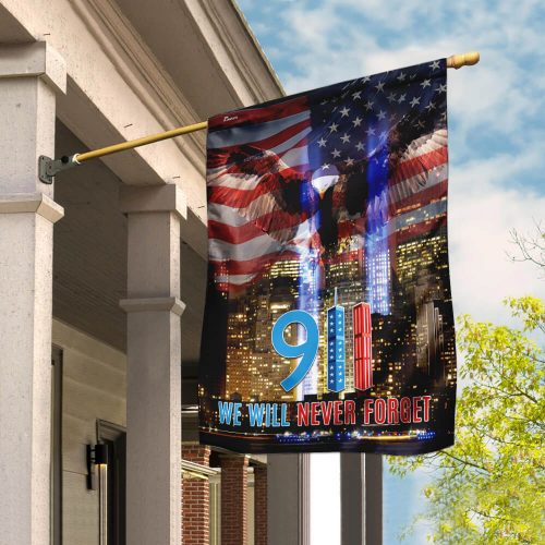 american flag 911 we will never forget all over print flag 2