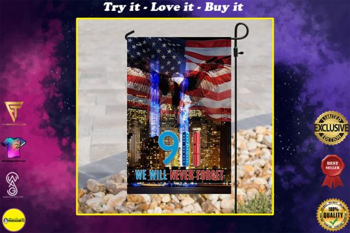 american flag 911 we will never forget all over print flag