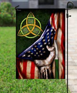 american flag celtic trinity saint patricks day all over printed flag 4