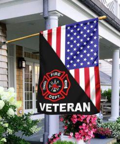 american flag firefighter veteran all over print flag 2
