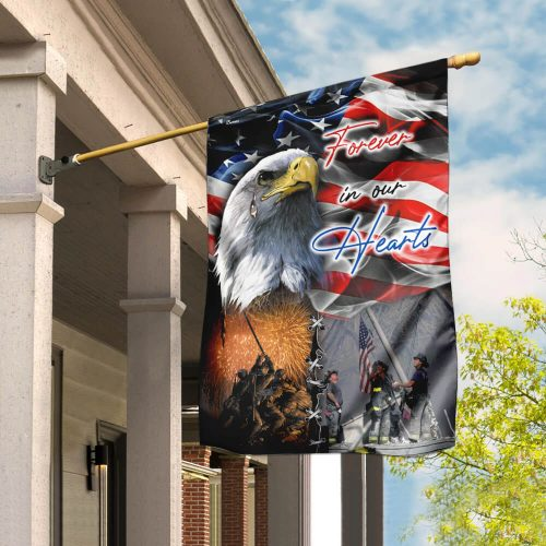 american flag forever in our hearts veteran all over print flag 2