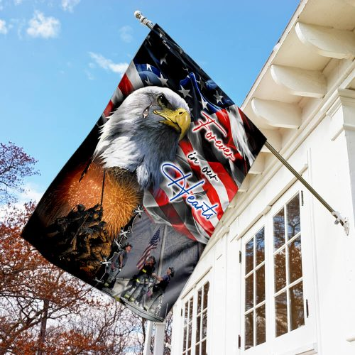 american flag forever in our hearts veteran all over print flag 3