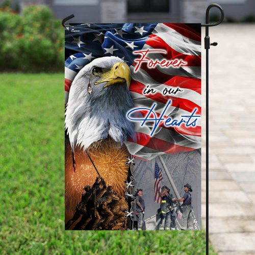 american flag forever in our hearts veteran all over print flag 5