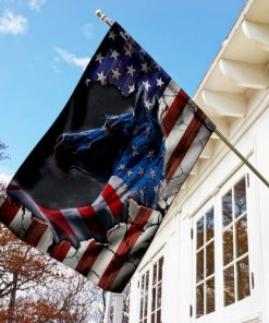 american flag horse all over printed flag 2