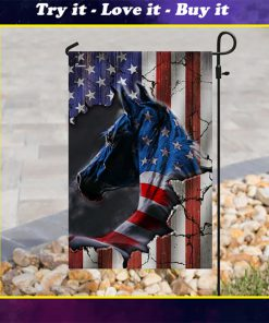 american flag horse all over printed flag