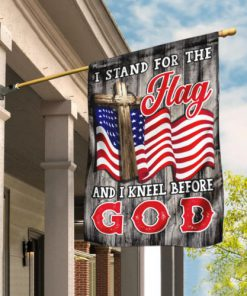 american flag i stand for the flag and i kneel before God flag 2