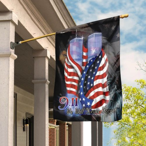 american flag september 11th we will never forget all over print flag 2