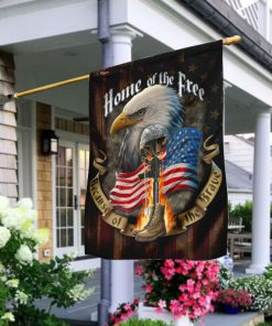 american flag veteran home of the free all over print flag 2