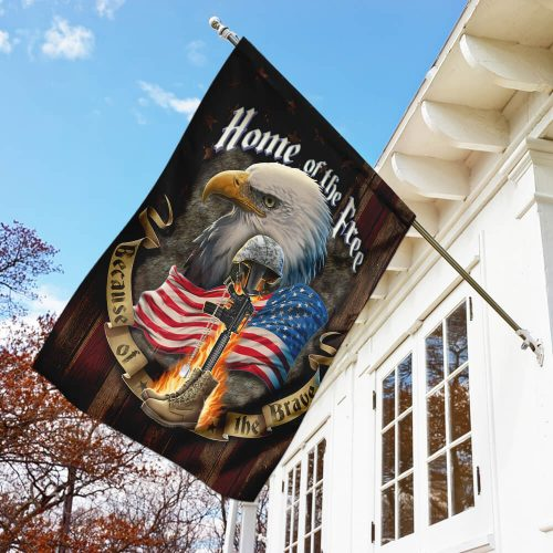 american flag veteran home of the free all over print flag 3