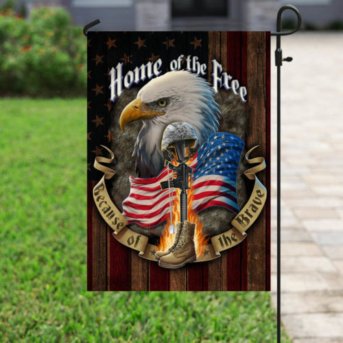 american flag veteran home of the free all over print flag 4