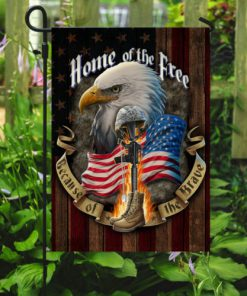 american flag veteran home of the free all over print flag 5