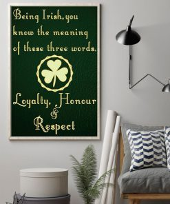 being irish you know the meaning of these words poster 2