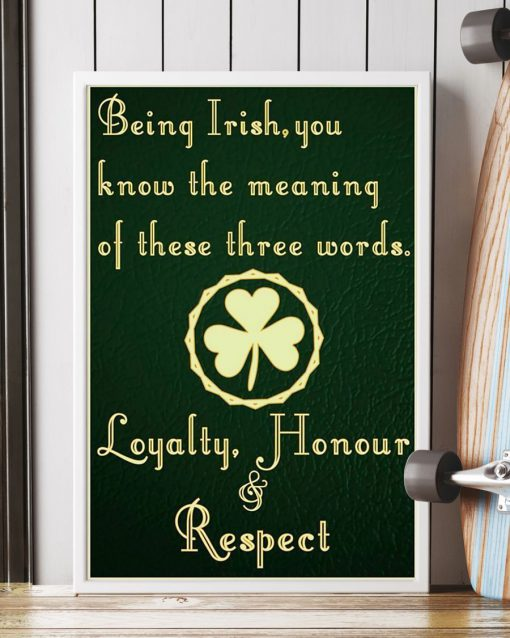 being irish you know the meaning of these words poster 4